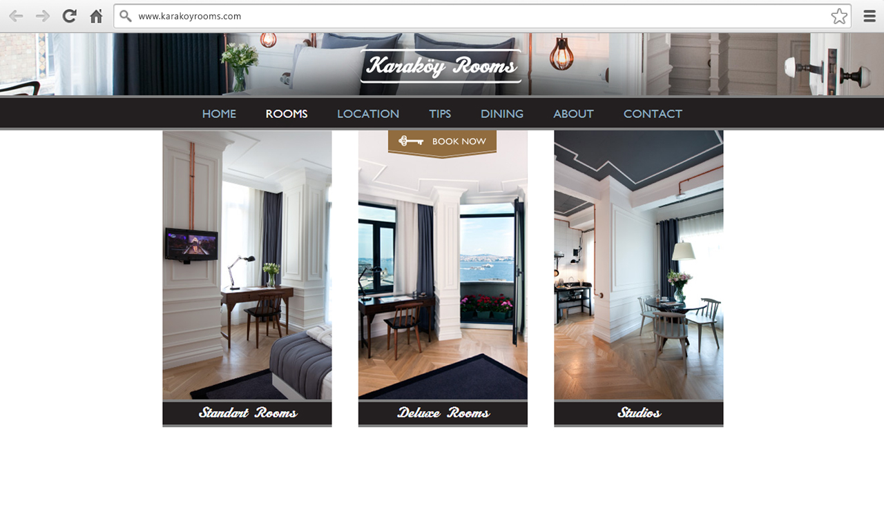 Karaköy Rooms Website