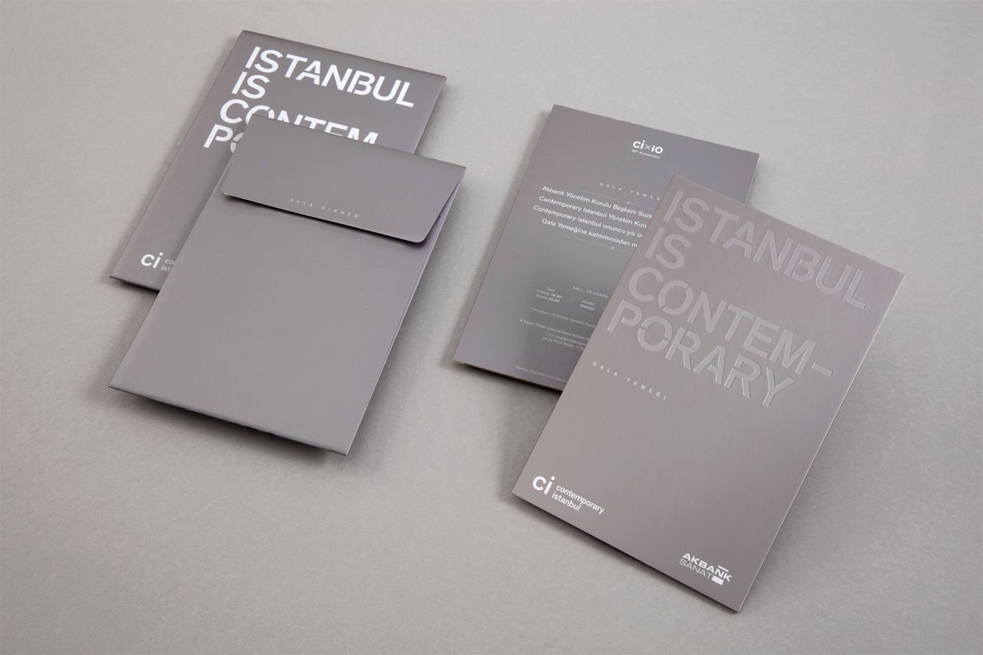 Contemporary Istanbul 2015 VIP Kit and Invitations