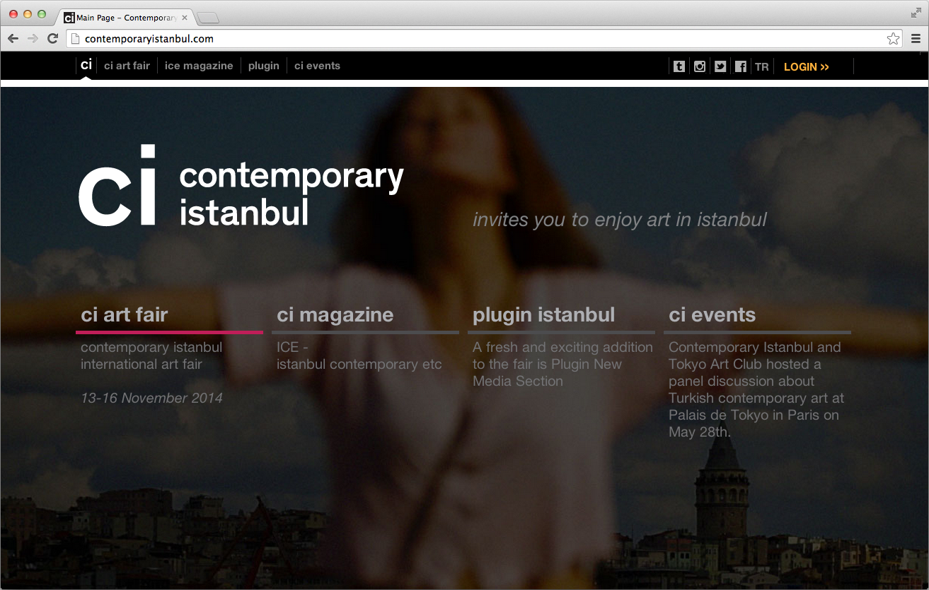 Contemporary Istanbul Website